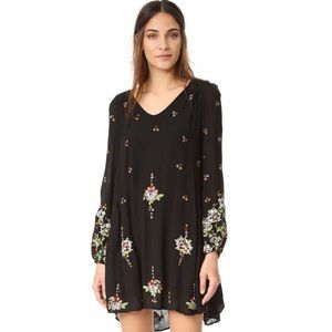 Black Embroidered 'Oxford' Dress